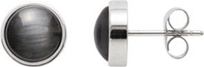 Ohrringe – Leonardo  Ohrstecker schwarz Joy  0 Modell Nr. 013970  Schlichte, klassische runde Ohrstecker (Ø 8mm) mit Cateyperlen in schwarz, die zu jedem Outfit passen und auch zu vielen Ketten und Armbändern aus der Herbst- Winterkollektion getragen we