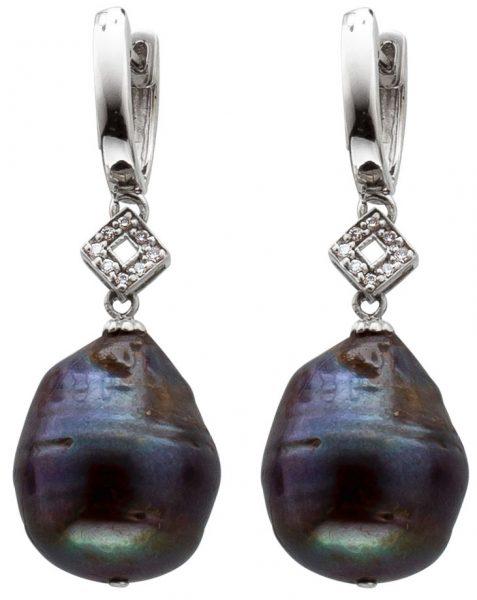 Perlenohrringe Ohrhänger Silber 925 Ohr...