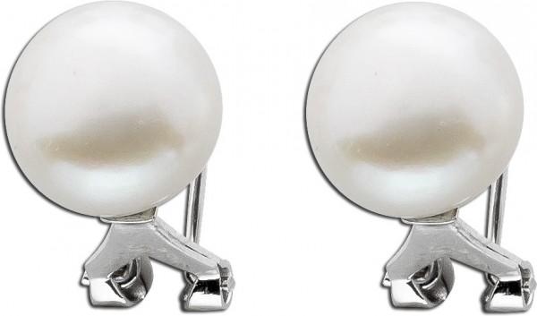 Ohrringe – Ohrstecker Clip Sterling Silber 925 Süßwasserzuchtperlen