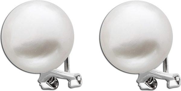 Perl Ohrringe  weisse Perlen Ohrstecker Clipse Sterling Silber 925 Süßwasserzuchtperlen