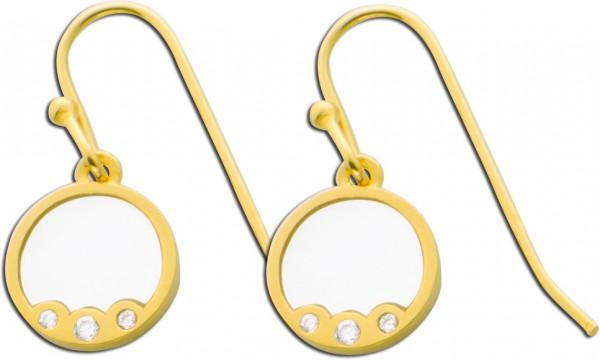 Ohrringe Ohrhänger Silber 925 vergoldet...
