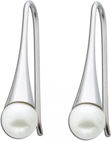 Perlen Ohrringe stahlohrringe Edelstahl ...