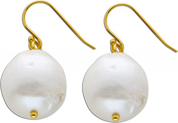 Perlen Ohrringe Ohrhänger Silber 925 ve...