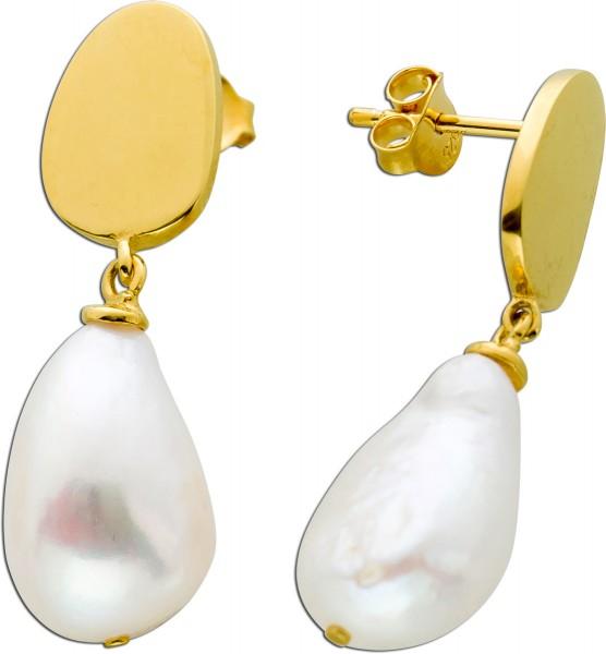 Ohrstecker Ohrringe Silber 925 vergoldet...