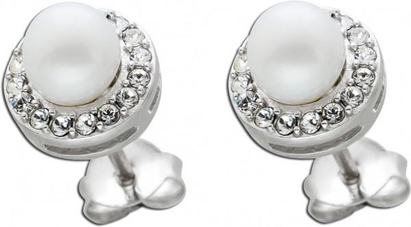 Perlen Ohrringe Ohrstecker Silber 925 S�...