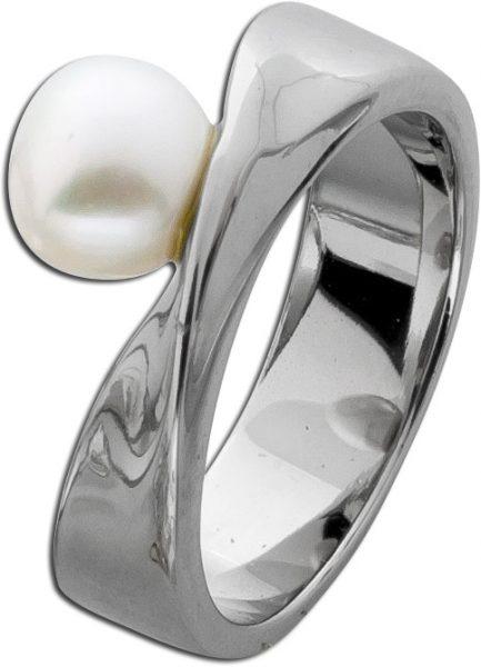 Perlen Ring Edelstahl Perlenschmuck weiß Toyo Yamamoto