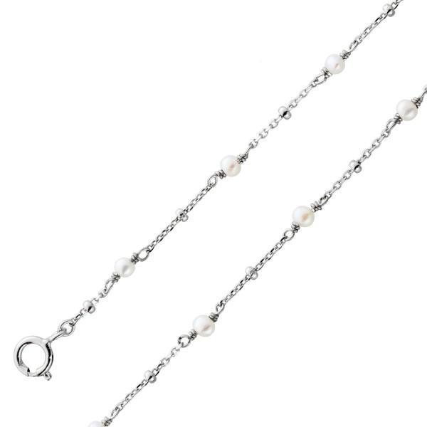 Kinder Perlenarmband Baby Süßwasserzuchtperlen Sterling Silber 925