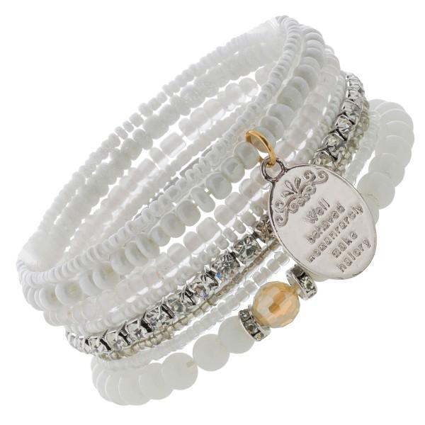 Crystal Blue 8-teiliges Armband Set wei�...