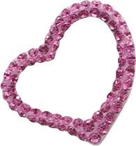 Anhänger in echtem Silber Sterlingsilber 925/- mit ca. 70 funkelnden rosafarbenen Kristallstrasssteine. Zum Schnäppchenpreis von Abramowicz aus Stuttgart. Die Nr. 1 für Gold, Silber und Perlen. Besuchen Sie auch unseren Outletverkauf