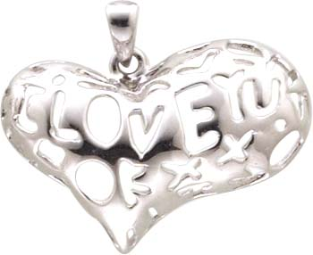 Anhänger Herz in echten Silber Sterlingsilber 925/- Lochgröße ca. 3,0 mm.Zum Schnäppchenpreis von Abramowicz aus Stuttgart. Die Nr.1 für Gold, Silber und Perlen. Besuchen Sie auch unseren Outletverkauf.