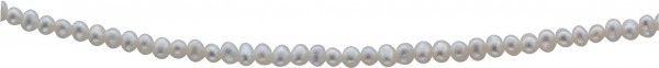 Süsswassperlenkette. Perlencollier 176 cm mit echten, wunderschön glänzenden weißen (ca. 4,5-5,0mm) Süßwasserzuchtperlen, endlos geknotet  in Premiumqualität. Exklusiv aus dem Hause ABRAMOWICZ Stuttgarts Adresse Nr. 1 für Gold, Silber und Perlen